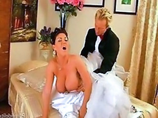 Big Tits Bride Clothed Doggystyle MILF Natural