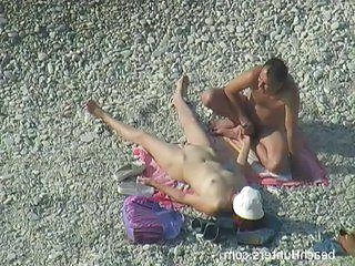 Beach Mature Nudist Older Outdoor Voyeur Wife