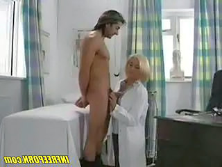 Babe Blonde Doctor Handjob Uniform