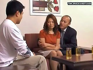 Asian Drunk Mom Threesome