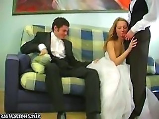 Bride Cuckold Threesome Wife