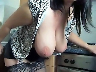 Big Tits British MILF Pornstar SaggyTits Stockings