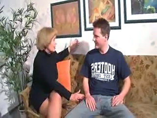German Older Mom Shafting On The Couch