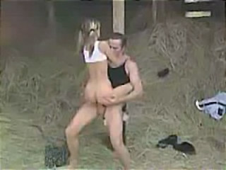 Farm German Pigtail Riding Skinny Teen