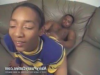 Cheerleader Ebony Riding Teen Uniform