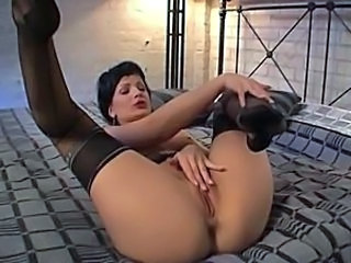 Amazing Ass Legs Masturbating Pornstar Stockings