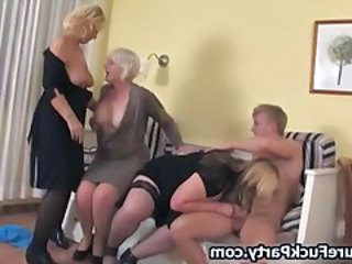 Blowjob Mature Orgy Stockings