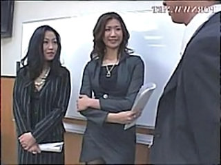Asian Office Threesome