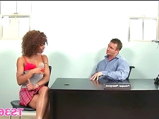 Ebony Interracial School Teacher Teen