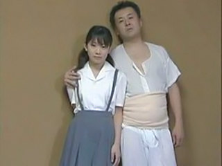 Asian Daddy Daughter Japanese Old and Young Uniform