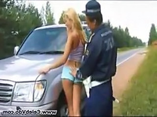Blonde Car Outdoor Public Teen