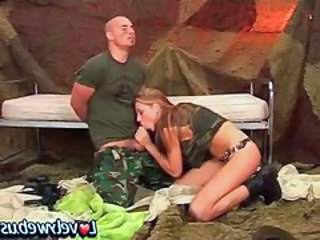 Army Blowjob Teen Uniform