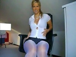 Big Tits Cute European MILF Pantyhose
