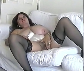 Amateur BBW Big Tits Masturbating Mature Natural SaggyTits Stockings