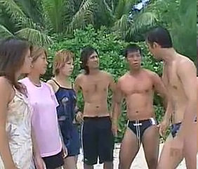 Asian Babe Beach Groupsex Orgy Outdoor