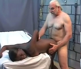 Daddy Doggystyle Ebony Interracial Old and Young Teen