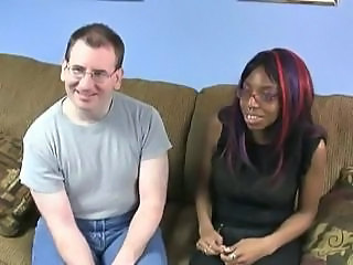 Amateur Ebony Glasses Interracial Teen
