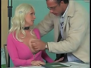 Big Tits Blonde Bus European German MILF Office