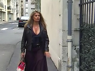 European French Mature Outdoor Public