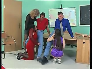 Blowjob Clothed Groupsex School