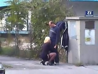Blowjob Clothed Outdoor Public