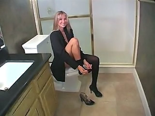 MILF Stockings Toilet Wife