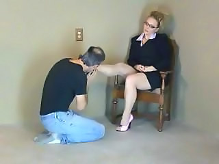 Blonde Feet Glasses Legs Mature