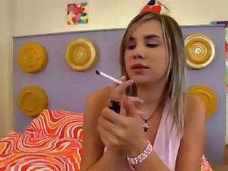Amazing Cute Skinny Smoking Teen