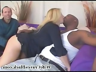 Blonde Cuckold Interracial MILF Wife