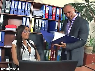 Amazing Glasses MILF Office Pornstar Secretary