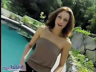 Cute Outdoor Pool Teen
