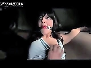 Brunette Girl Tied To Machine Getting Her Tits And Pussy Tortured Pussy Hooked And Fucked In The Dungeon