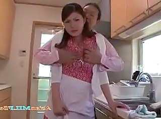 Asian Bus Japanese Kitchen MILF