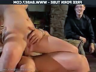 Cash Cuckold Riding Threesome Wife