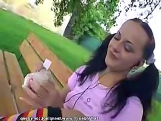 Outdoor Pigtail Teen