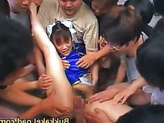 Asian Flexible Forced Gangbang