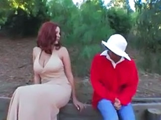 Big Tits MILF Natural Outdoor Redhead