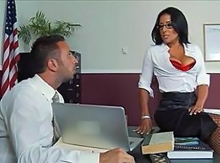 Big Tits Glasses MILF Office Stockings Teacher