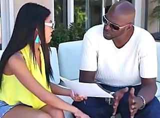 Ebony Glasses Outdoor Pornstar Teen