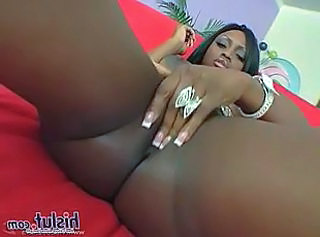 Ebony Masturbating MILF