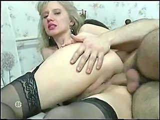 Anal Ass Blonde MILF Stockings