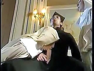 Big cock Blowjob Clothed Fisting Nun Threesome Uniform Vintage