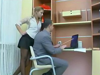 Amazing Russian Secretary Skirt Stockings Teen