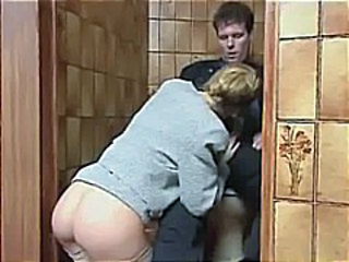 Ass Blowjob Clothed MILF Toilet Vintage