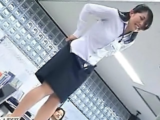 Asian Office Secretary Stripper