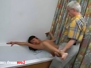 Asian Bathroom Korean Old and Young Skinny Young