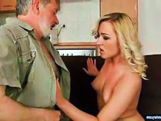 Blonde Daddy Daughter Old and Young Teen