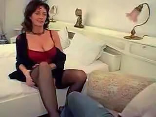 Big Tits European German MILF Natural Stockings