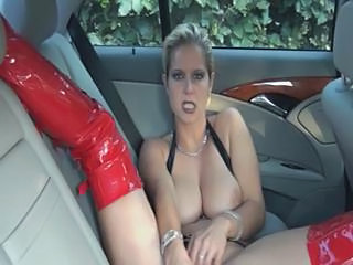 Big Tits Car Latex Masturbating MILF