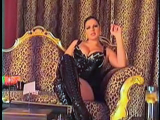 Amazing Big Tits Chubby Latex MILF Smoking
